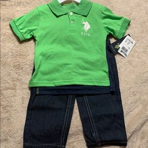 BABY BOY 2 PC JEAN & T-SHIRT SET